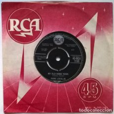 Disques de vinyle: HANK LOCKLIN. MY OLD HOME TOWN/ PLEASE HELP ME, I'M FALLING. RCA, UK 1960 SINGLE. Lote 200592730