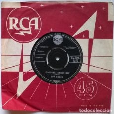 Discos de vinilo: DON GIBSON. LONESOME NUMBER ONE/ THE SAME, OLD TROUBLE. RCA, UK 1961 SINGLE. Lote 200593507