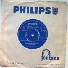 Discos de vinilo: JOHNNY HORTON. NORTH TO ALASKA/ THE MANSION YOU STOLE. PHILIPS, UK 1960 SINGLE. Lote 200594987