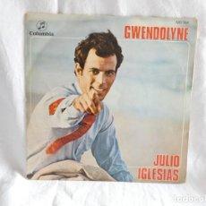 Discos de vinilo: JULIO IGLESIAS - SINGLE VINILO - GWENDOLYNE - EUROVISION 1970. Lote 200597350