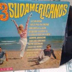 Disques de vinyle: LP ( VINILO) DE LOS 3 SUDAMERICANOS AÑOS 60. Lote 200606112