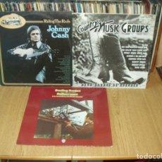 Discos de vinilo: LOTE 6 LP'S (ALGUNOS DOBLES) COUNTRY. Lote 200638192