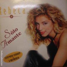 Discos de vinilo: REBECA SOLO AMANTE - MAXI - 1996. Lote 200656647
