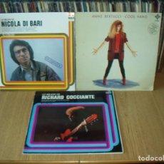 Discos de vinilo: LOTE 5 LP'S MUSICA ITALIANA . Lote 200656655