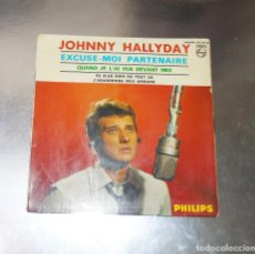 Discos de vinilo: JOHNNY HALLYDAY --CUTTIN IN & YOU´RE THE DEVIL IN DISGUISE & I SAW HER STANDING THERE--AÑO 1965. Lote 178184375