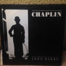 Discos de vinilo: CHAPLIN - JOHN BARRY -ROBERT DOWNEY, JR - SMILE - SINGLE. Lote 200661857