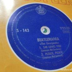 Discos de vinilo: BEATLEMANIA – 45 FLEXI SPAIN – EX / THE LIVERPOOLS SHE LOVES YOU / PLEASE PLEASE // BEATLES COVER *. Lote 200726238