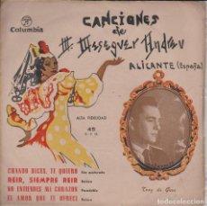 Discos de vinilo: JOYAS MUSICALES. CANCIONES DE MASEGUER ANDREU. Lote 200735905