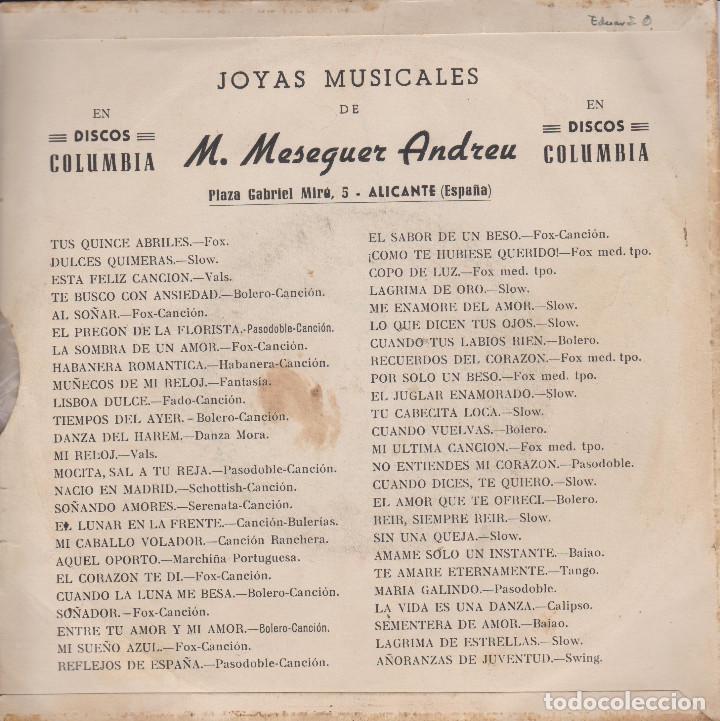 Discos de vinilo: JOYAS MUSICALES. CANCIONES DE MASEGUER ANDREU - Foto 2 - 200735905