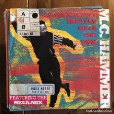 Discos de vinilo: MC HAMMER - THEY PUT ME IN THE MIX - SINGLE CAPITOL ALEMANIA 1991. Lote 200741752