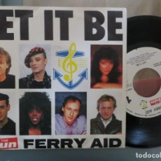 Discos de vinilo: FERRY AID: LET IT BE (BEATLES-DIRE STRAITS-BOY GEORGE...). Lote 200747530