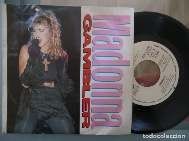 MADONNA: GAMBLER (SINGLE ESPAÑOL) (Música - Discos de Vinilo - Singles - Pop - Rock Extranjero de los 80)