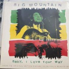 Discos de vinilo: BIG MOUNTAIN - BABY, I LOVE YOUR WAY (12, MAXI) 1994.SELLO:RCA, 74321 19806 1. COMO NUEVO. Lote 200751816