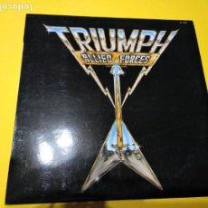 Discos de vinilo: TRIUMP - ALLIED FORCES - LP. Lote 200771260