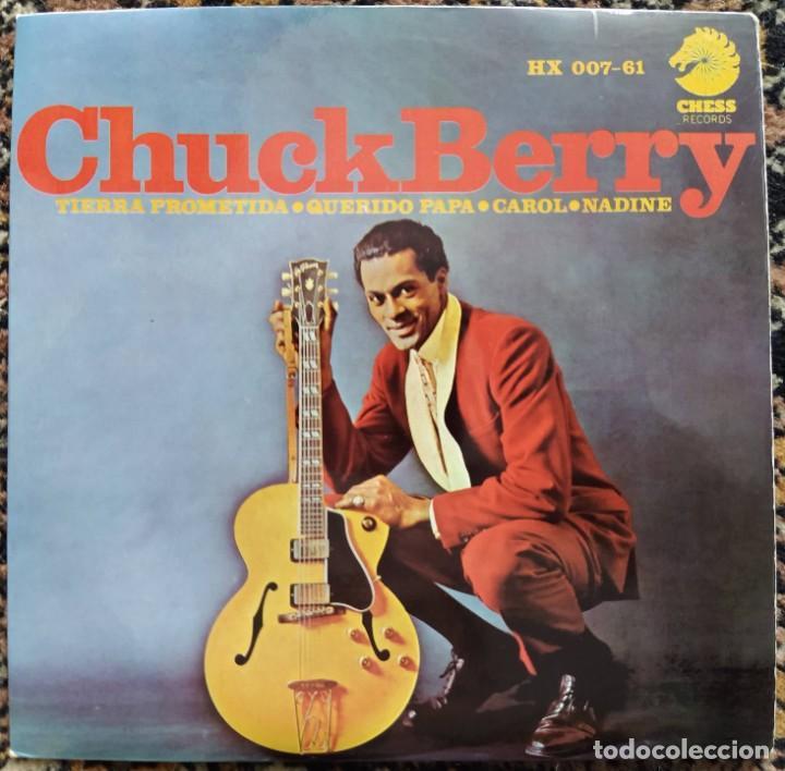 CHUCK BERRY - PROMISED LAND (EP) (HISPAVOX)HX 007-61 (D:NM) (Música - Discos de Vinilo - EPs - Rock & Roll)