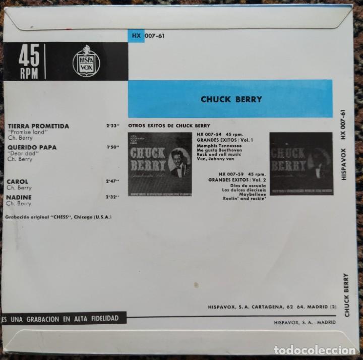 Discos de vinilo: Chuck Berry - Promised Land (EP) (Hispavox)HX 007-61 (D:NM) - Foto 2 - 200776328