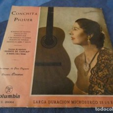 Discos de vinilo: DESDE 2 EUROS LP 10 PULGADAS CONCHITA PIQUER ANTIQUISIMO ESTADO ACEPTABLE CONSERVACION. Lote 200778402