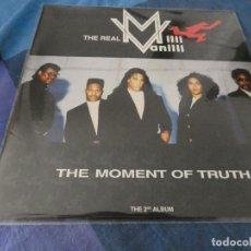 Discos de vinilo: DESDE 2 EUROS LP MILLI VANILLI THE MOMENT OF TRUTH THE 2ND ALBUM ESTADO ACEPTABLE. Lote 200781095
