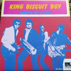 Discos de vinilo: KING BISCUIT BOY - MOUTH OF STEEL (LP, ALBUM) (STONY PLAIN RECORDS) SPL-1076 (D:NM). Lote 200810906