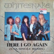 Discos de vinilo: WHITESNAKE: HERE I GO AGAIN (MAXI-SINGLE). Lote 200811105
