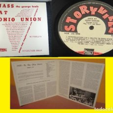 Discos de vinilo: GEORGE LEWIS AUTHENTIC NEW ORLEANS RAGTIME BAND - JASS AT OHIO UNION 1954 2LP ORG USA EDT, EXC. Lote 200834036