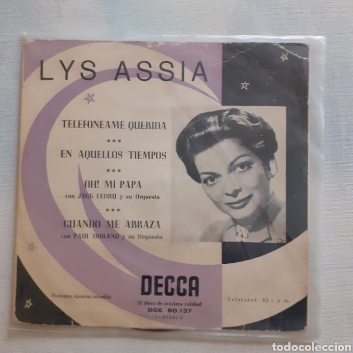 LYS ASSIA. OH! MI PAPÁ. EP. DECCA DGE 60.137. FUNDA VG. DISCO VG++. (Música - Discos de Vinilo - EPs - Solistas Españoles de los 50 y 60)