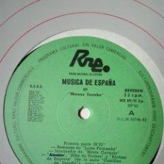 Discos de vinilo: NÚM 9 MORENO TORROBA. TRANSCRIPCIONES DE RNE. MÚSICA DE ESPAÑA. SP 82. LP VINILO. Lote 200850327