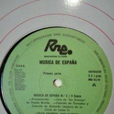 Discos de vinilo: NÚM 2. 2 ÉPOCA. TRANSCRIPCIONES DE RNE. MÚSICA DE ESPAÑA 1982 LP VINILO. Lote 200851623