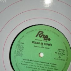 Discos de vinilo: NÚM 5. RECORRIDO MUSICAL CAMINO DE SANTIAGO. TRANSCRIPCIONES RNE. MÚSICA DE ESPAÑA AG 82. LP VINILO. Lote 200852693