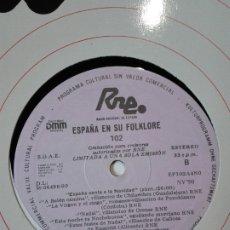 Discos de vinilo: ESPAÑA EN SU FOLKLORE. 102. TRANSCRIPCIONES DE RNE. ESPAÑA CANTA A LA NAVIDAD. NV 90. LP MÚSICA. Lote 200853463