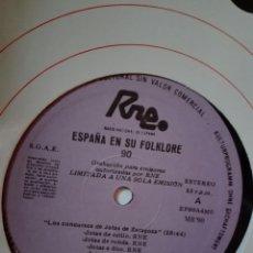 Discos de vinilo: ESPAÑA EN SU FOLKLORE. 90. TRANSCRIPCIONES DE RNE. CONCURSOS DE JOYAS DE ZARAGOZA. FB 90. LP MÚSICA. Lote 200854811