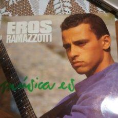 Disques de vinyle: EROS RAMAZZOTTI. MÚSICA ES.. Lote 200870330