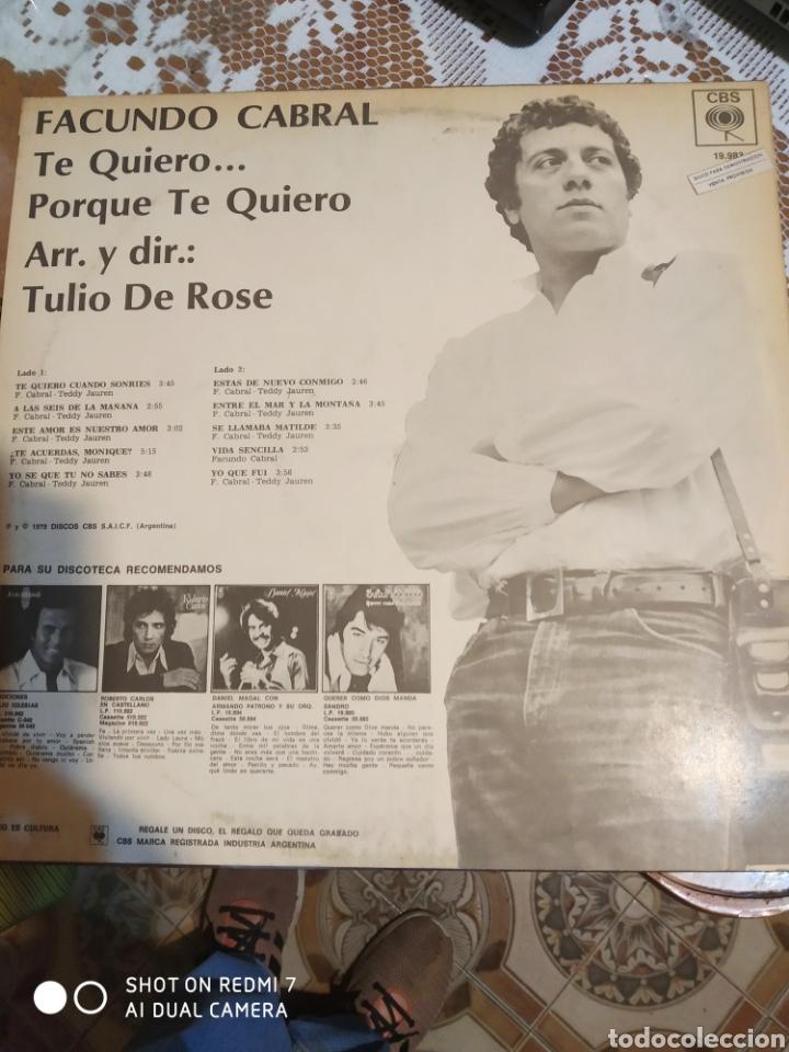 Discos de vinilo: Facundo Cabral. Te quiero... porque te quiero. Importado - Foto 3 - 200871385