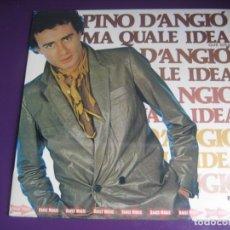 Dischi in vinile: PINO D'ANGIO LP RCA 1981 - MA QUALE IDEA (QUÉ IDEA) - ITALODISCO 80'S - PRECINTADO. Lote 279517393