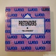 Disques de vinyle: NT PRETENDERS - MILLIONAIRES 1990 SPAIN PROMO PROMOCIONAL SINGLE VINILO. Lote 201137575