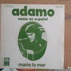 Discos de vinil: ** ADAMO - MARIE LA MER / SOLO UNA MUJER - SG AÑO 1974 - PROMOCIÓN - LEER DESCRIPCIÓN. Lote 201140493