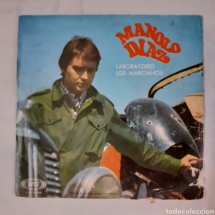 Discos de vinilo: Manolo Diaz. Laboratorio. Single. Sonoplay SN-20.050. 1967. Funda muy gastada. Disco VG +. - Foto 2 - 201150256