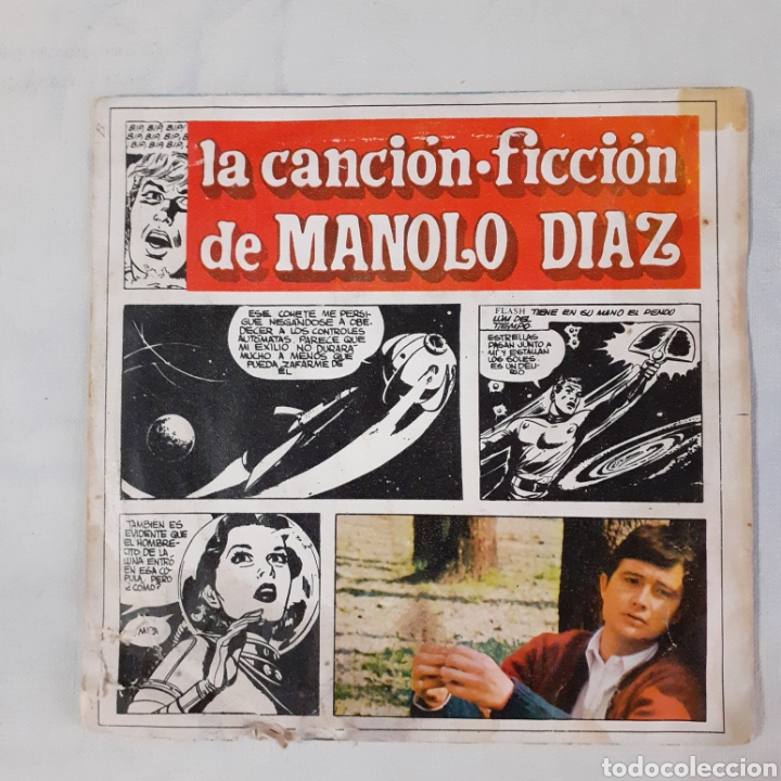 Discos de vinilo: Manolo Diaz. Laboratorio. Single. Sonoplay SN-20.050. 1967. Funda muy gastada. Disco VG +. - Foto 1 - 201150256