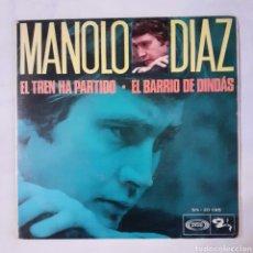 Discos de vinilo: MANOLO DIAZ. EL BARRIO DE DINDAS. SINGLE. SONOPLAY SN - 20095. 1968. FUNDA VG++. DISCO VG++. Lote 201151287