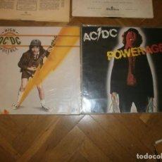 Discos de vinilo: AC DC 2 LP POWERAGE 1983 WEA RECORDS - HIGH VOLTAGE 1976 ATCO RECORDS. Lote 201159492