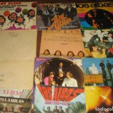 Disques de vinyle: LOS ALBA - LOTE DE 12 SINGLES . Lote 201161092