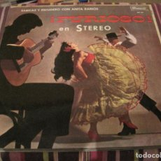 Discos de vinilo: LP FURIOSO SABICAS Y ESCUDERO CON ANITA RAMOS BRUNSWICK 267051 SPAIN 1964 FLAMENCO. Lote 201177940
