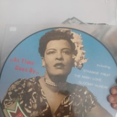 Discos de vinilo: LP PICTURE DISC BILLIE HOLIDAY AS TIME GOES BY EX/EX. Lote 201182382