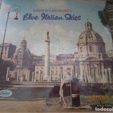 Discos de vinilo: RENATO CAROSONE - BLUE ITALIAN SKIES LP - ORIGINAL U.S.A. - CAPITOL RECORDS 1958 CON FUNDA ORIGINAL. Lote 201190636