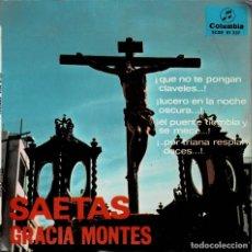 Dischi in vinile: GRACIA MONTES - SAETAS / EP COLUMBIA DE 1966 RF-4260. Lote 201200011