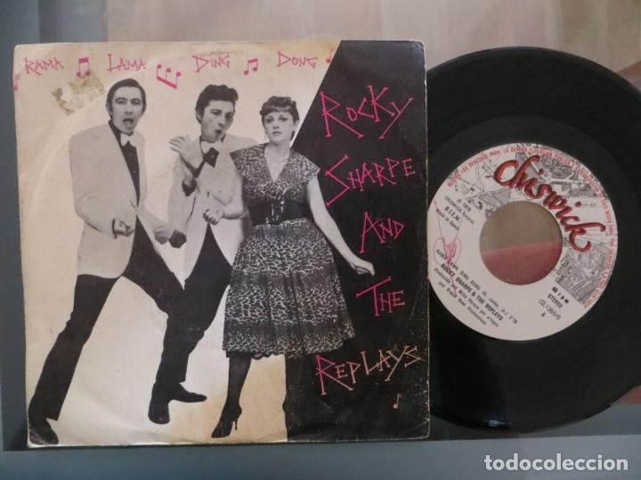 ROCKY SHARPE AND THE REPLAYS: RAMA LAMA DING DONG (SINGLE ESPAÑOL) (Música - Discos de Vinilo - Singles - Pop - Rock Extranjero de los 80)