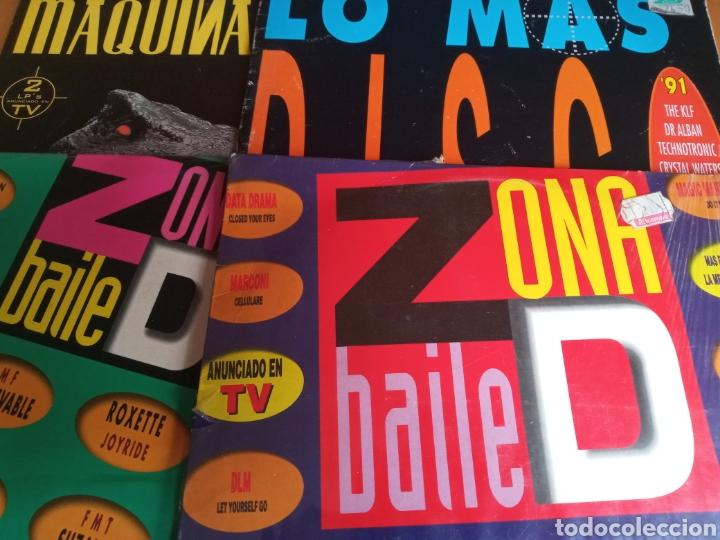 LOTE 4 DISCOS DOBLES BAILE MÁQUINA VER FOTO DE CADA UNO (Música - Discos - LP Vinilo - Disco y Dance)