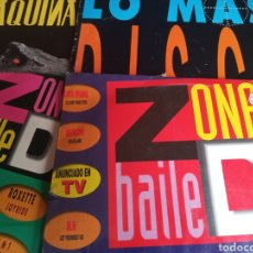 Discos de vinilo: LOTE 4 DISCOS DOBLES BAILE MÁQUINA VER FOTO DE CADA UNO. Lote 201231395