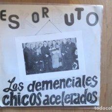 Discos de vinilo: ESKORBUTO: LOS DEMENCIALES CHICOS ACELERADOS (SINGLE,SOLO LA FUNDA) 1987. Lote 201249578