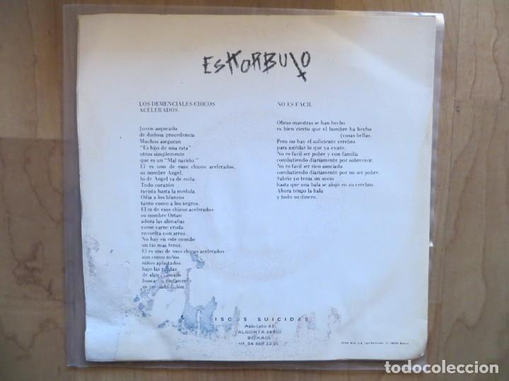 Discos de vinilo: ESKORBUTO: LOS DEMENCIALES CHICOS ACELERADOS (SINGLE,SOLO LA FUNDA) 1987 - Foto 2 - 201249578